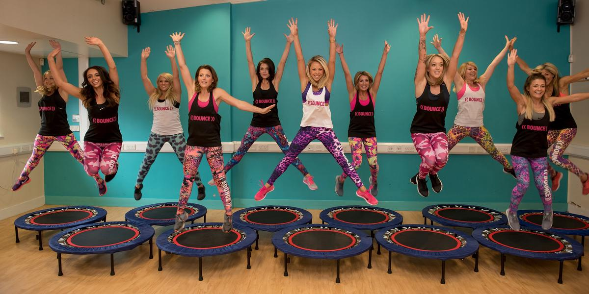 Bounce CEO Kimberlee Perry (pictured front, centre) founded the business in 2015 / ((BOUNCE))