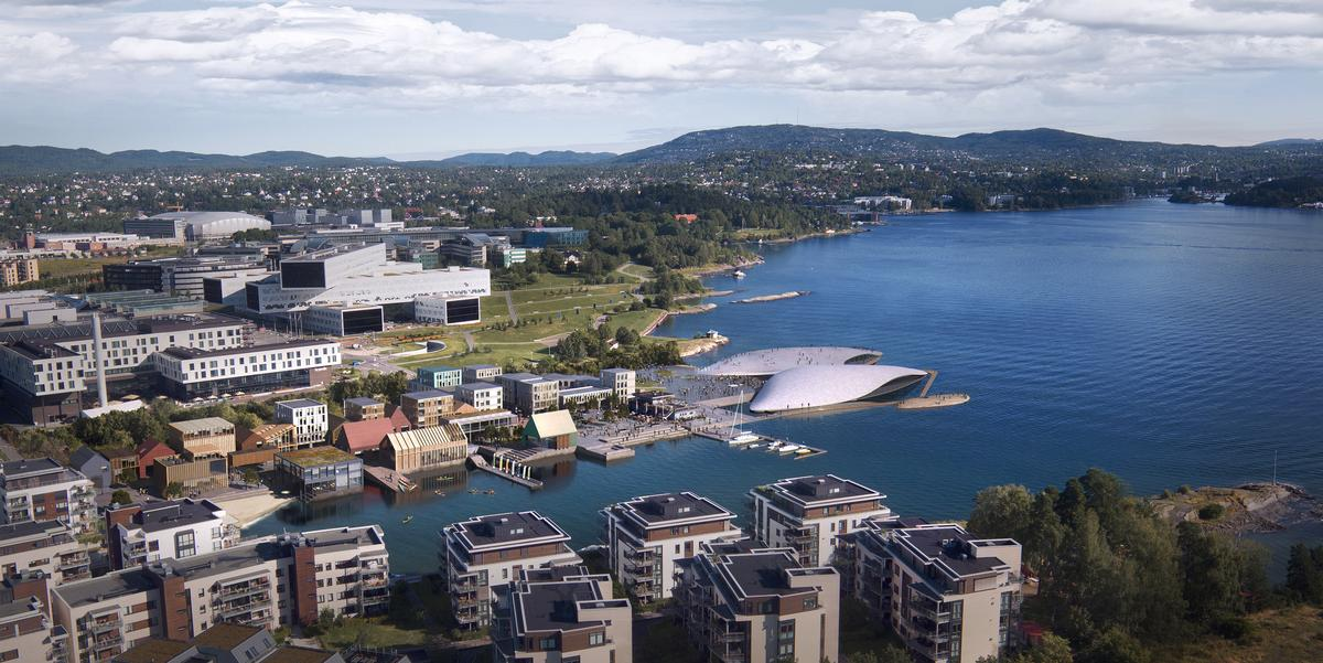 Selvaag is developing the aquarium at the site of Oslo's former international airport / Selvaag