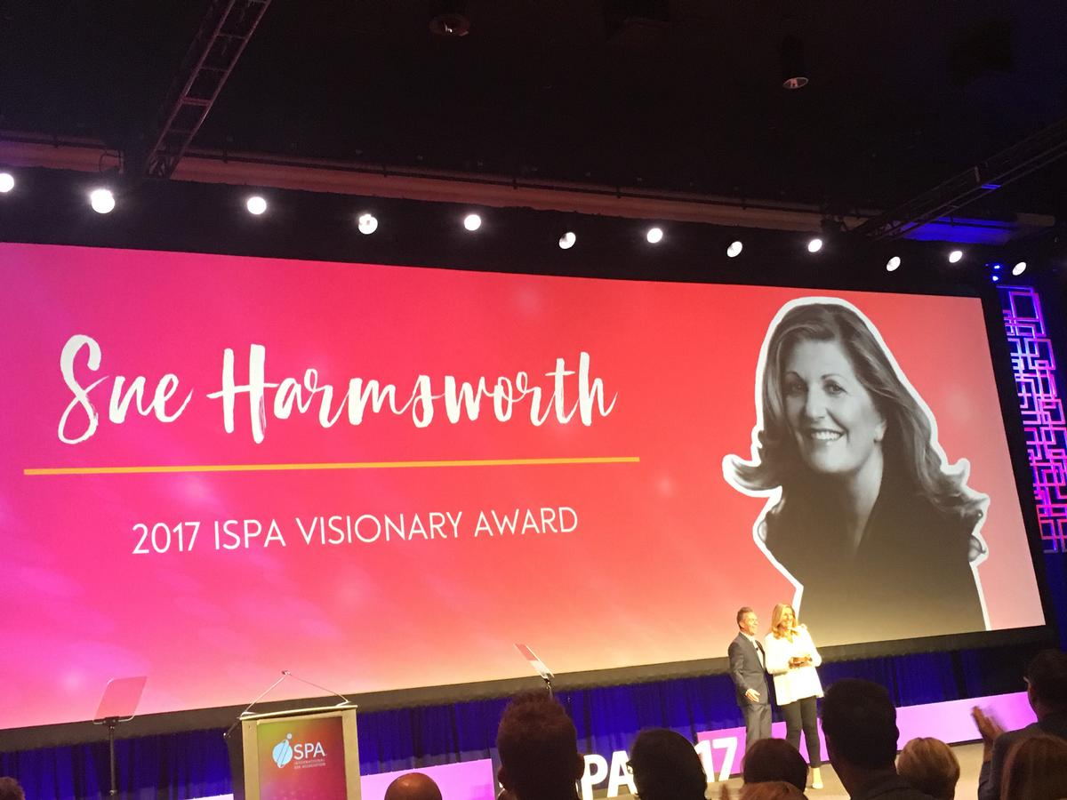 The ISPA Visionary Award is presented each year to someone in the spa industry who has made significant contributions to both the definition and positive movement of health and wellness over the lifetime of their career