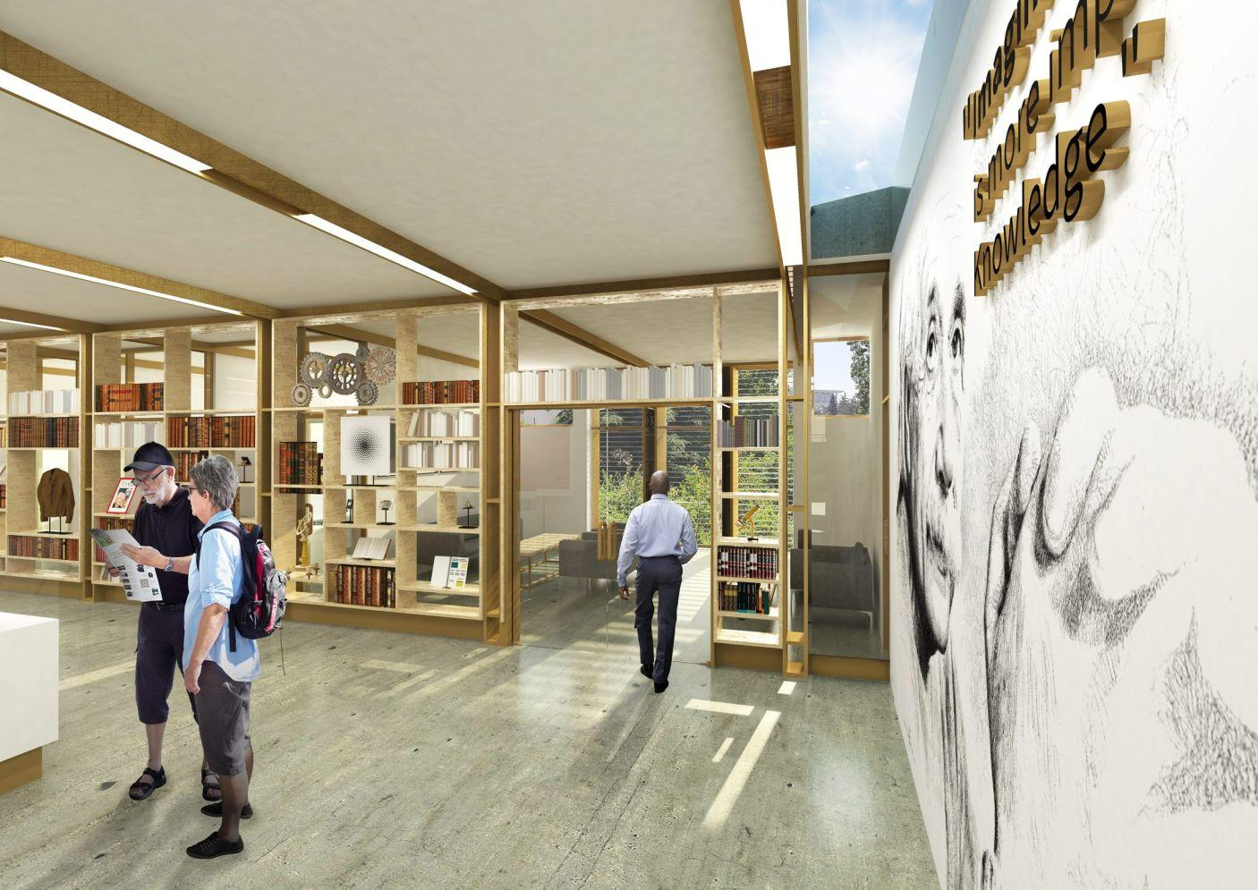 An entrance lobby – which will also host temporary exhibitions – will feature Einstein's historic library / Arad Simon Architects