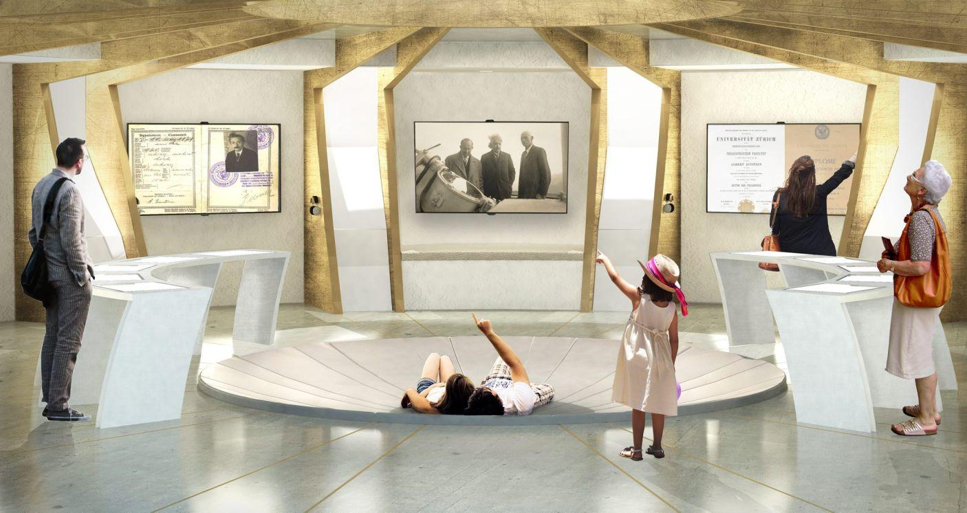 The  building's floor will be partly excavated, designed as a bowl so visitors can lie down and look up at the planetarium's ceiling / Arad Simon Architects