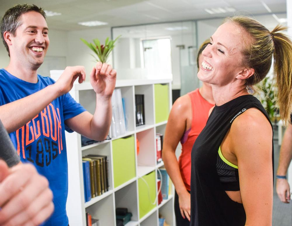 At Les Mills UK, both staff and visitors are encouraged to take part in exercise classes during the working day