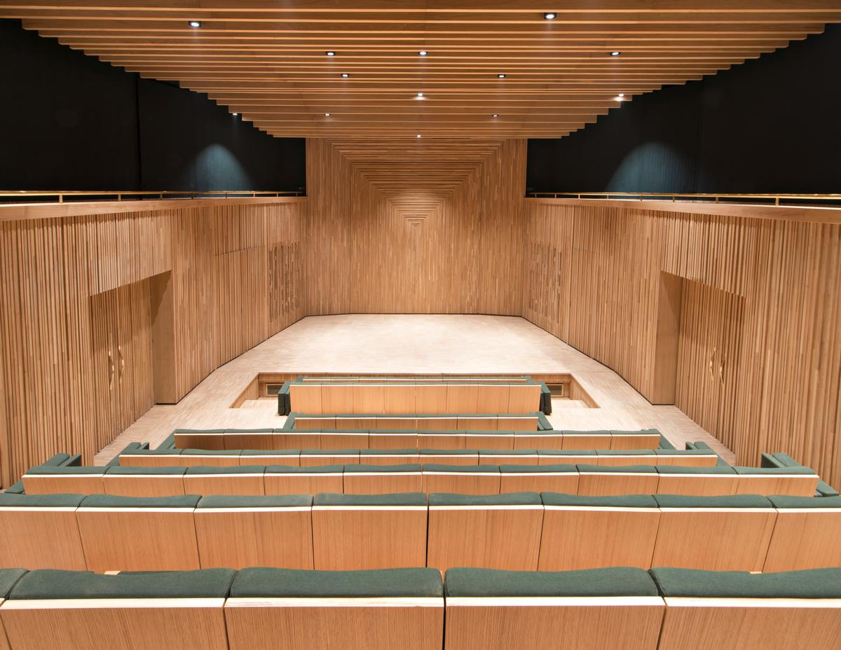 An auditorium in the museum will host talks, film screenings and music performances / Nicolas Mathéus