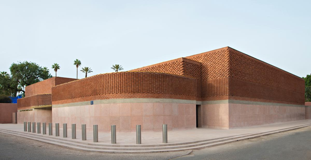 The museum is located on a site next to the city's Jardin Majorelle, a garden the designer saved from being destroyed by developers / Nicolas Mathéus