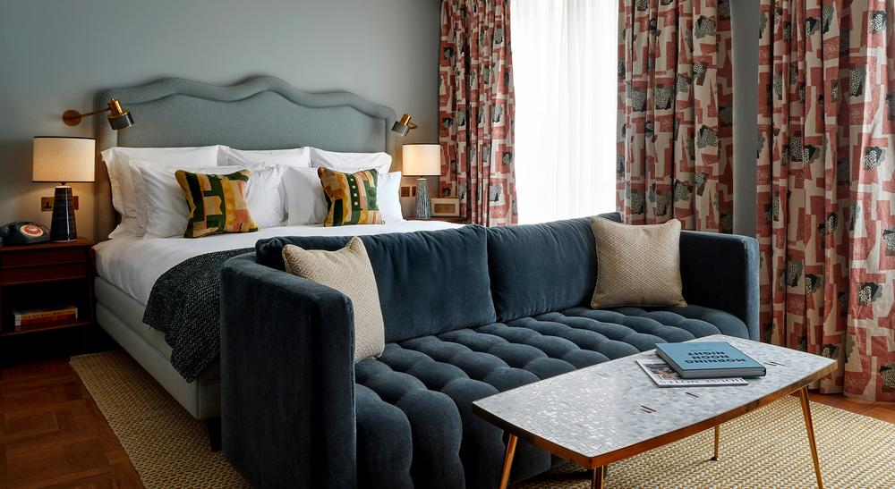 Non-members can book the club's 45 bedrooms, which have 60s styling, fluted timber wardrobes, modernist wooden minibars and mid-century terrazzo tables