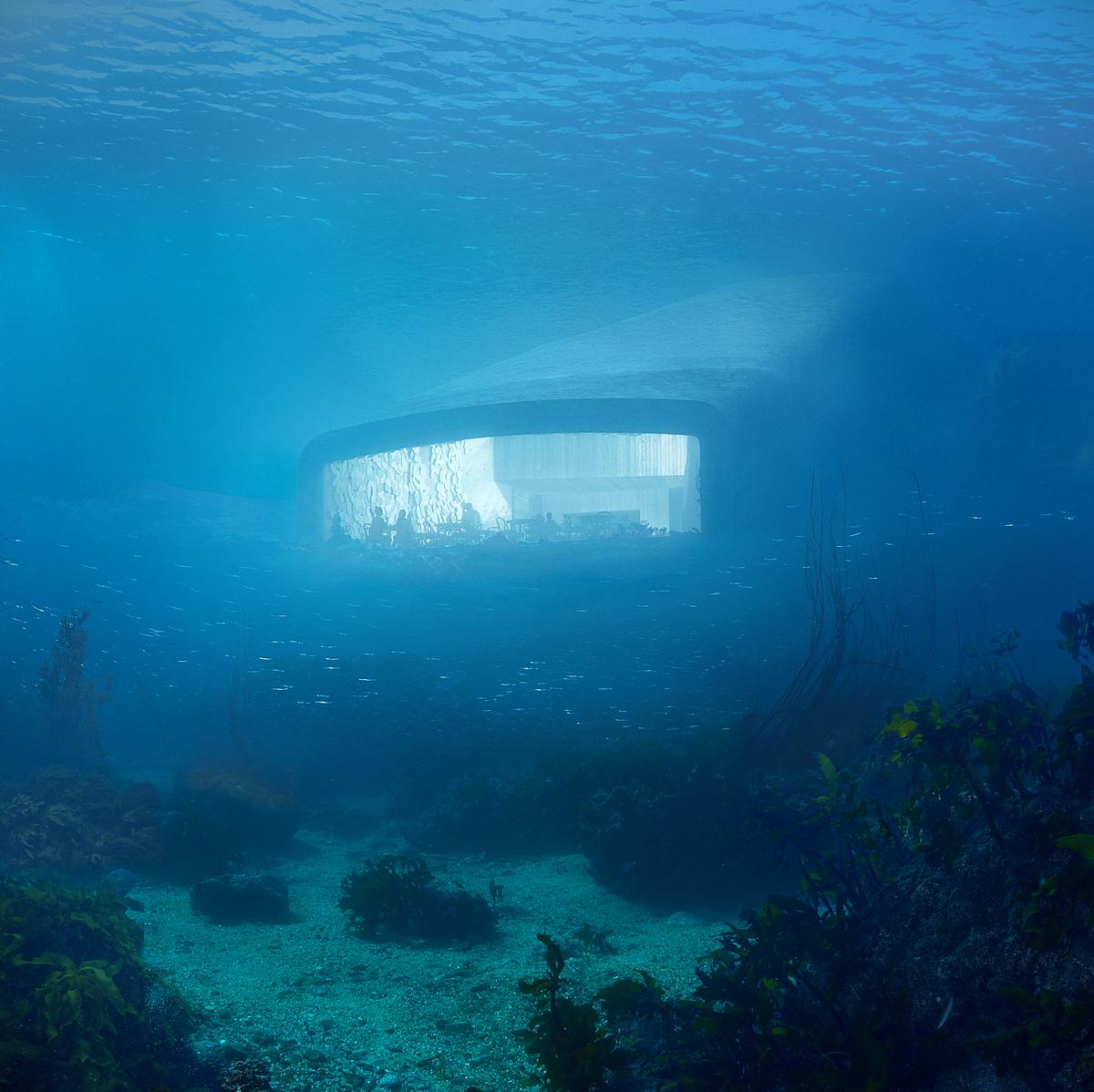The bottom of the building will rest directly on the sea bed, 5m underwater / MIR and Snøhetta