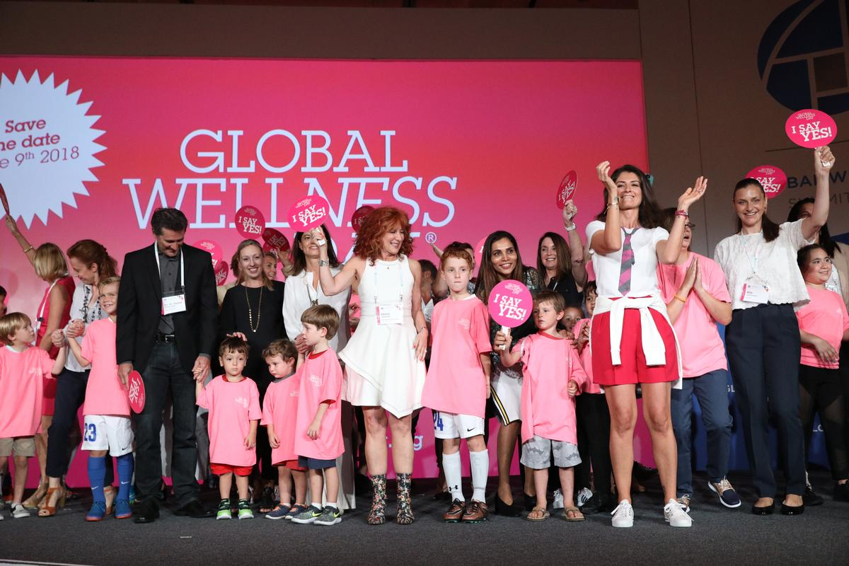 GWD founder Belgin Aksoy Berkin, front, announced the project at the Global Wellness Summit at The Breakers in Palm Beach, Florida