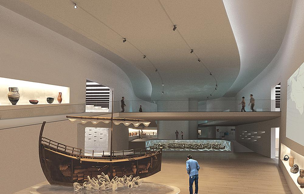 Archaeological relics will be stored and exhibited at the museum / Images: XZA Architects