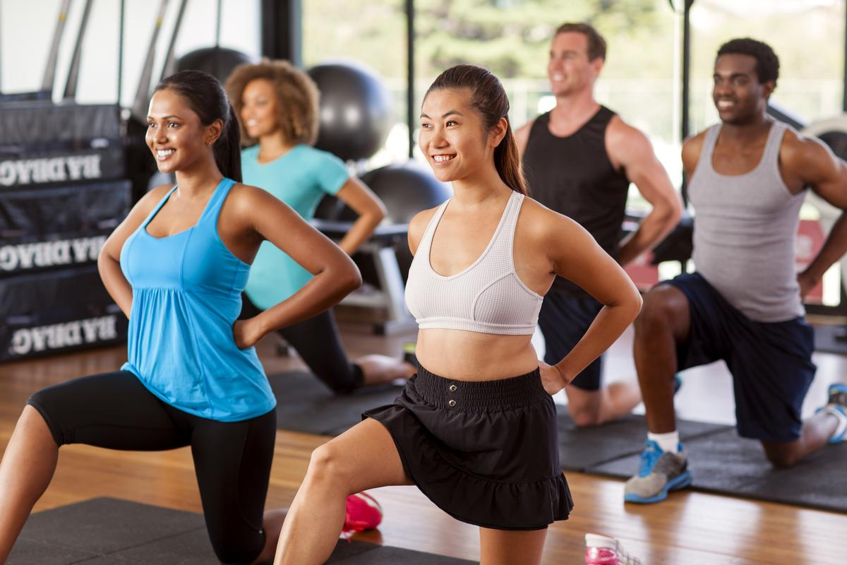 Group exercise participants reported a 12.6 per cent improvement in mental health and 26.2 per cent reduction in stress levels / Shutterstock