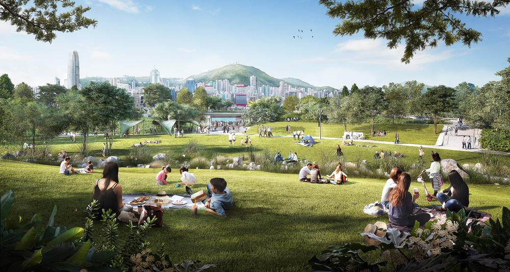 West 8 helped to design an 'Art Park' for the West Kowloon Cultural District in Hong Kong / West Kowloon Cultural District Authority