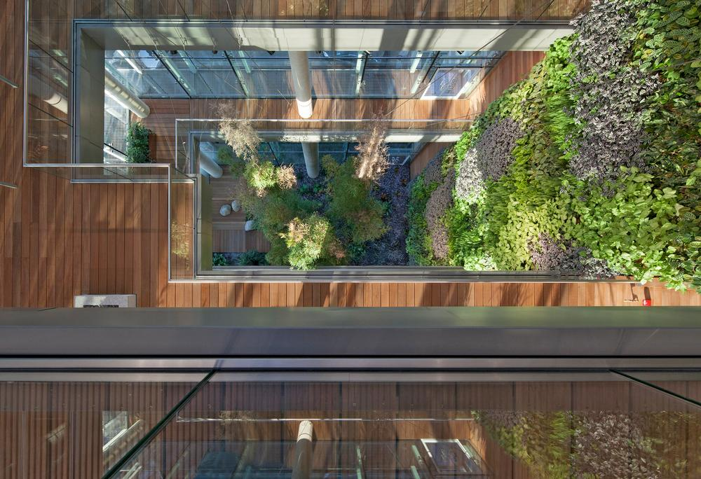 Homebuilder Barratt London added vertical gardens and green space to its sellout GWQ Westgate House apartment development / Photo: Barratt London