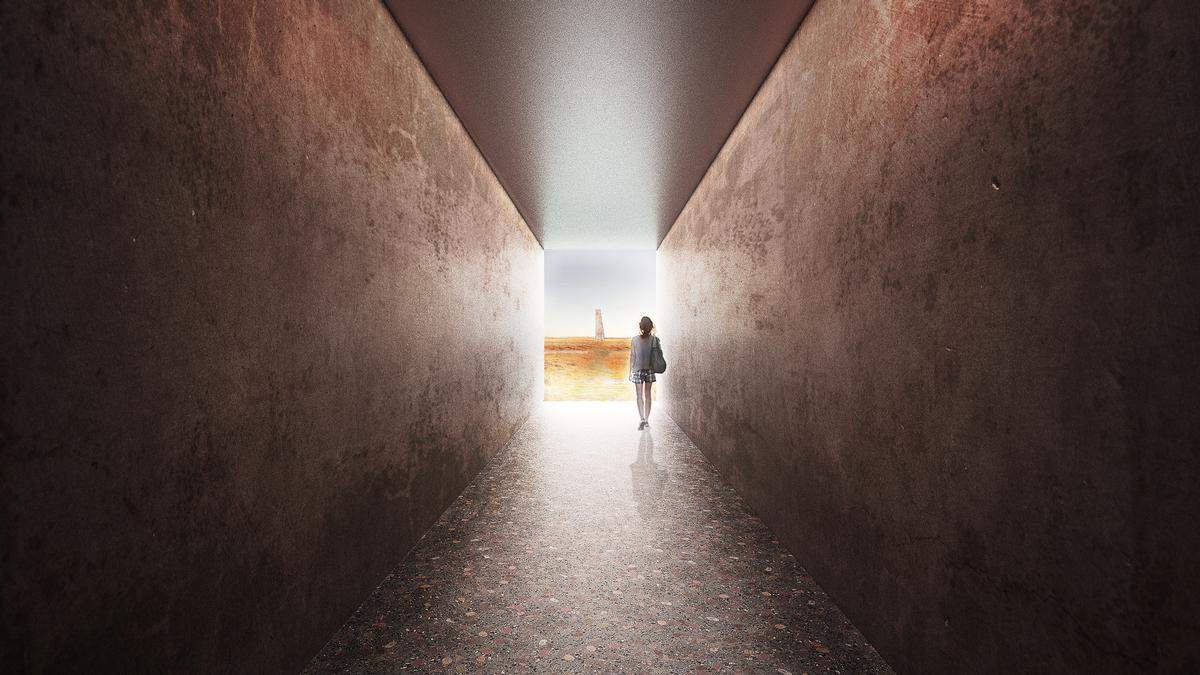 Portals and tunnels will be placed throughout the complex to enhance the feeling that guests are following in Baroar's footsteps / Johannes Torpe Studio