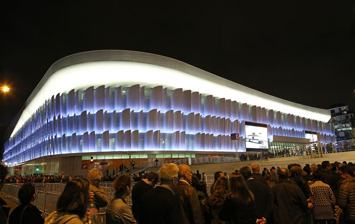 The U Arena is illuminated by 3,000 LED strips casting over 16 million colours.  / David Silpa/PA Images