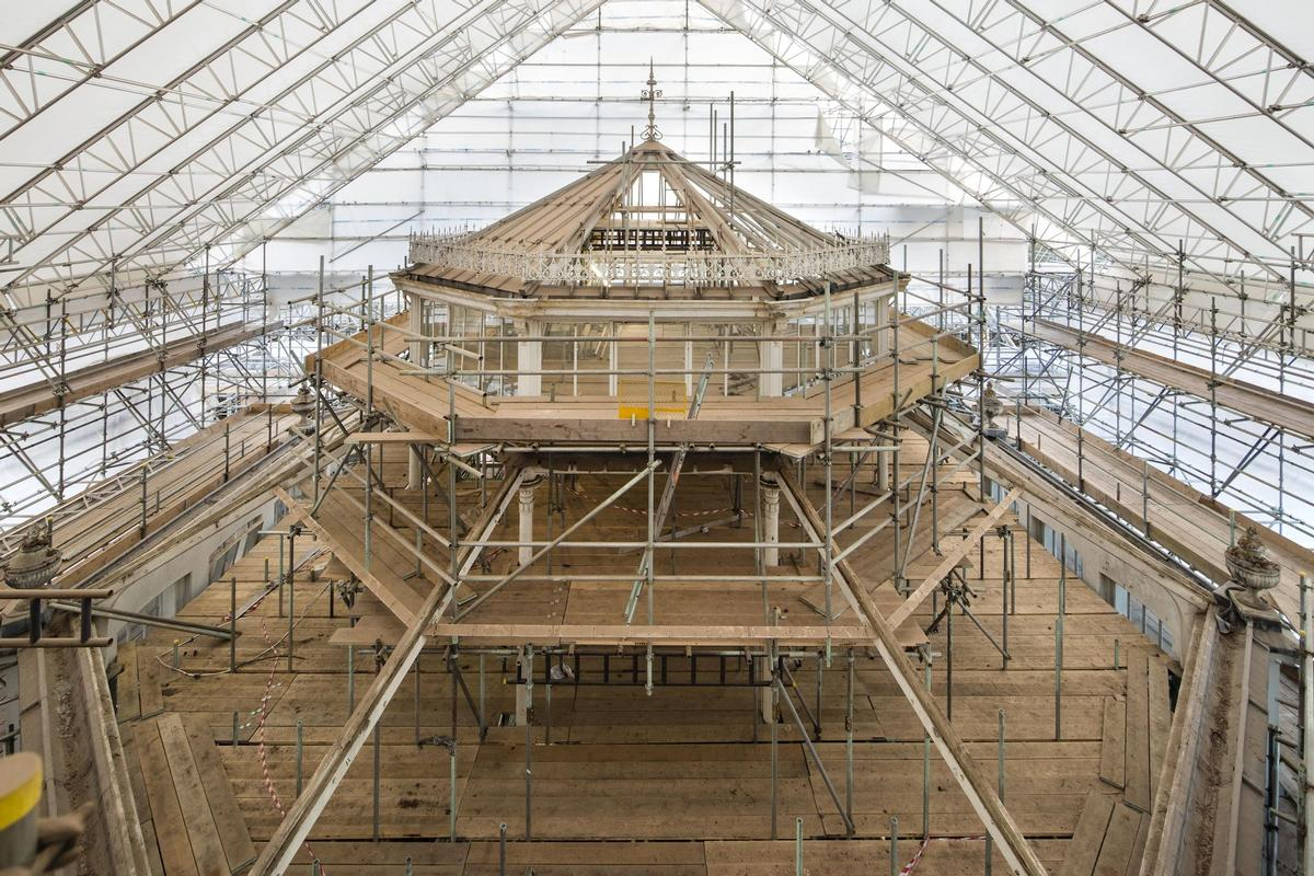 Restoration work at the Temperate House at the Royal Botanic Gardens, Kew