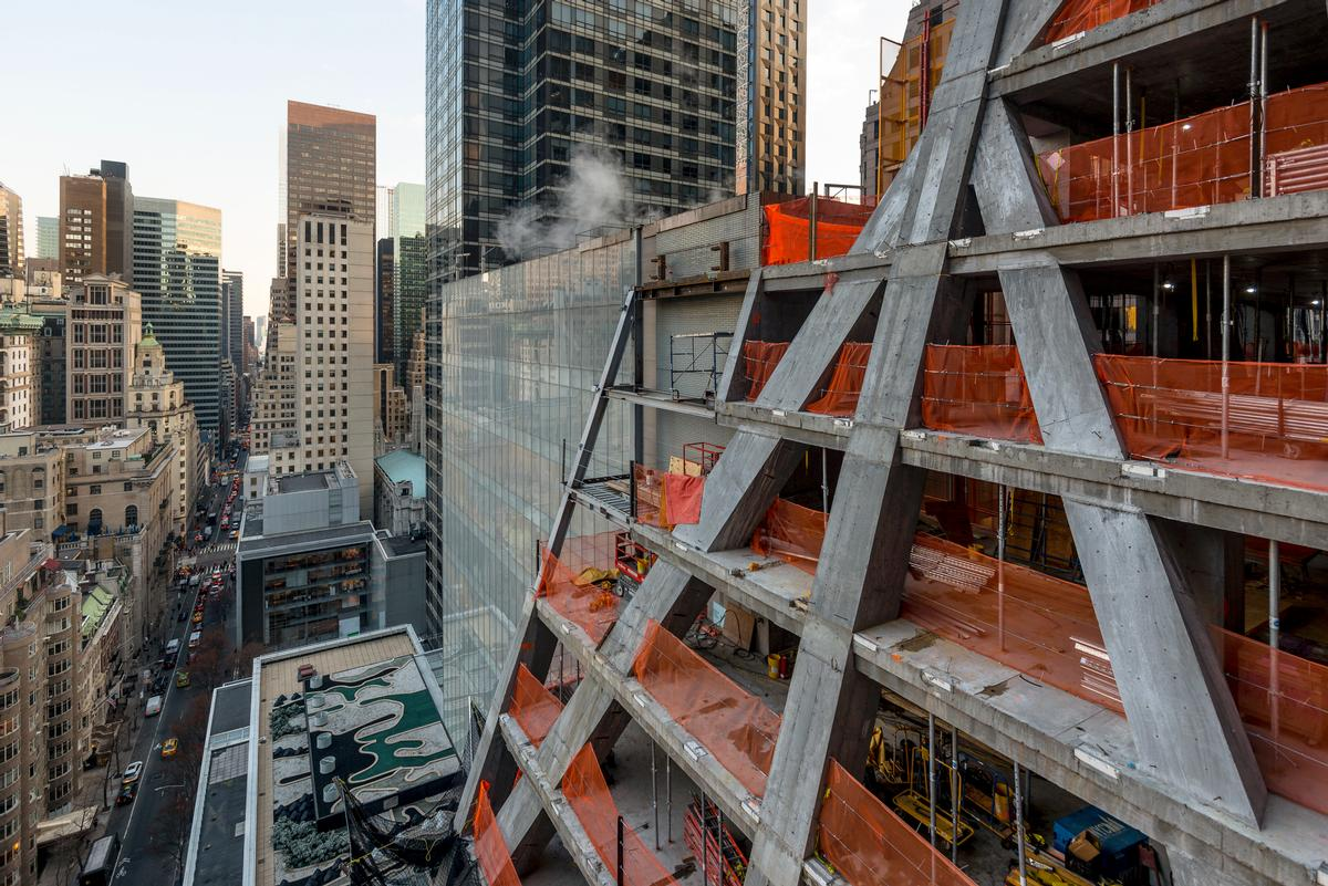 Construction on the project, called 53W53, has reached the 58th floor / Giles Ashford