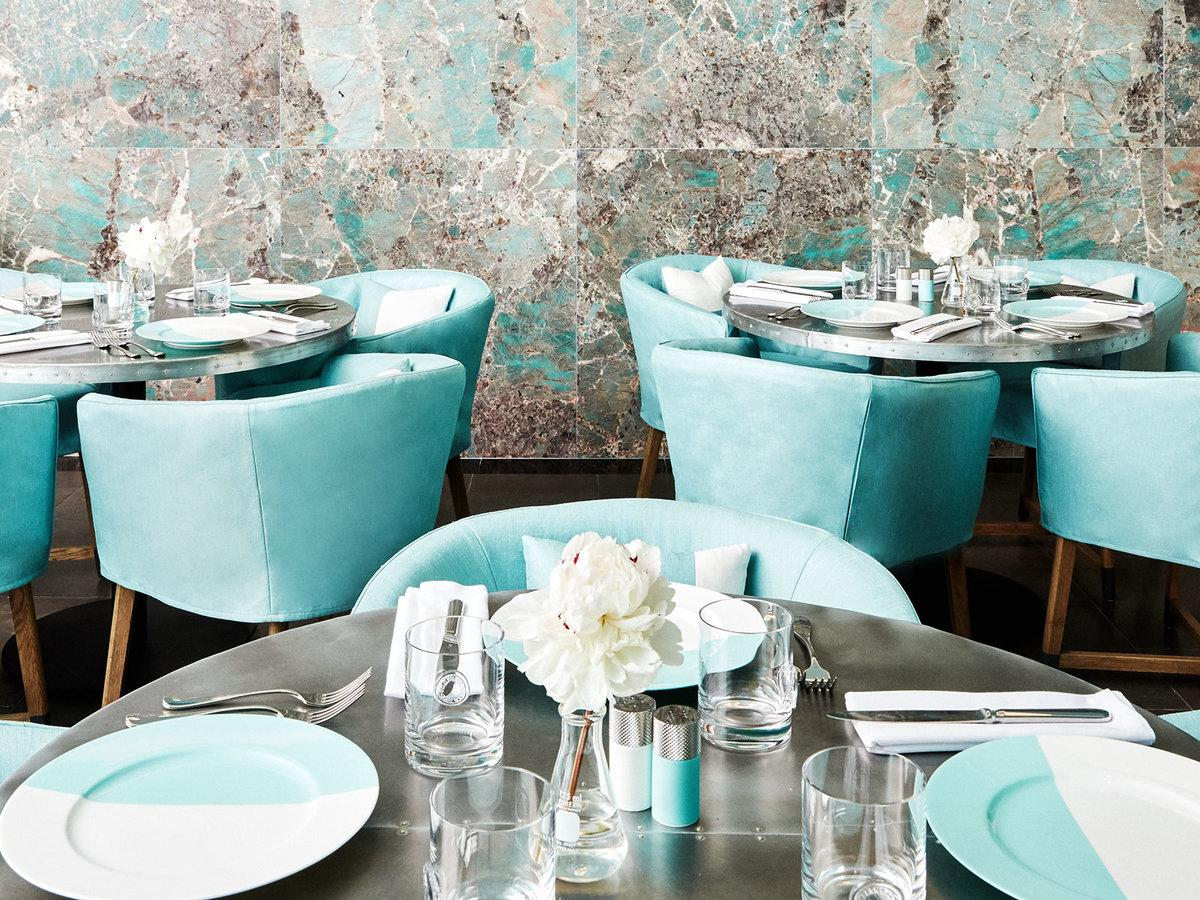 The in-house creative team have designed both the new cafe and a department for the store's luxury Home & Accessories collection in a 'playful and unexpected' space / Tiffany & Co