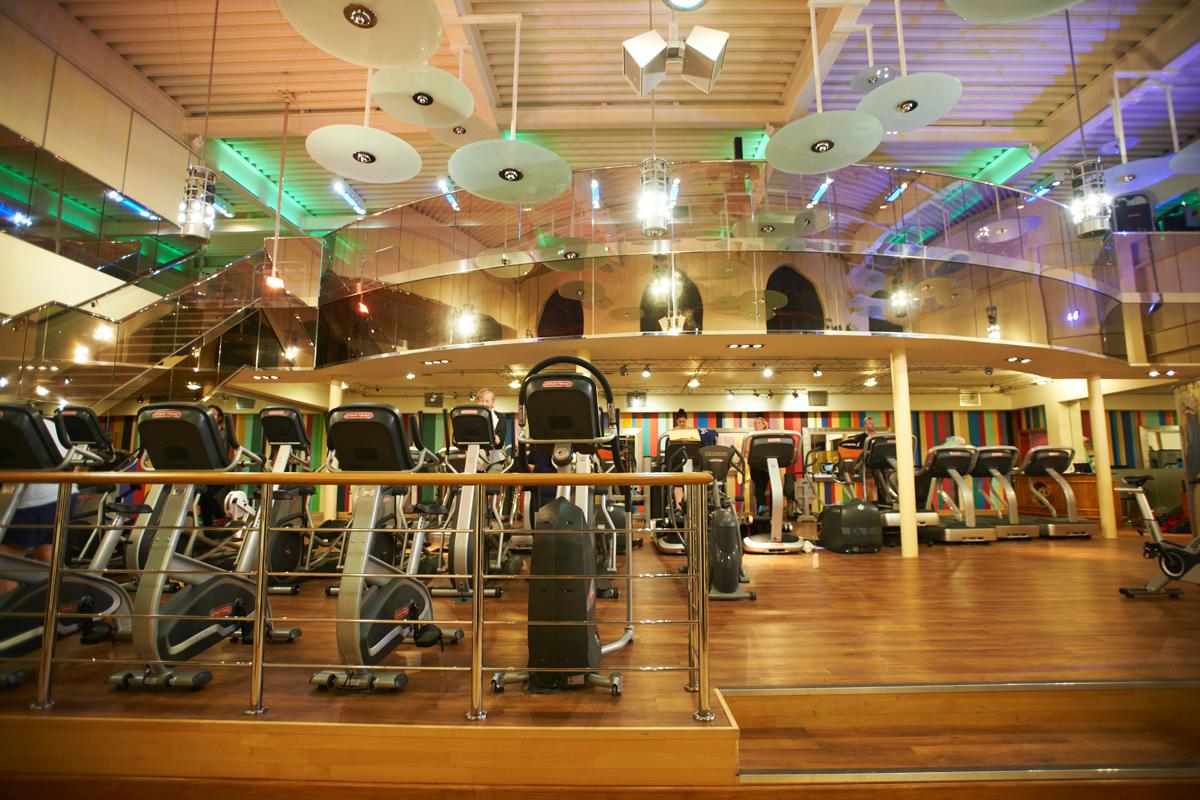 The upmarket gym offers memberships for around £100 per month