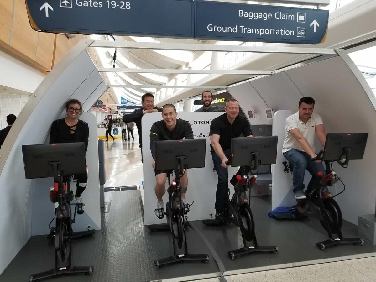 Miniature health clubs could feature in the planes of the future  / Transpose