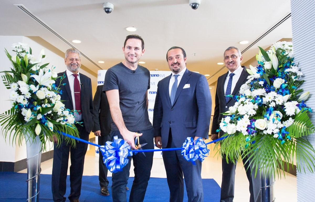 Frank Lampard announced his partnership with nanoM and cut the ribbon with Yazen Abu Gulal, chairman of Emirates Healthcare / Jonathan Gainer