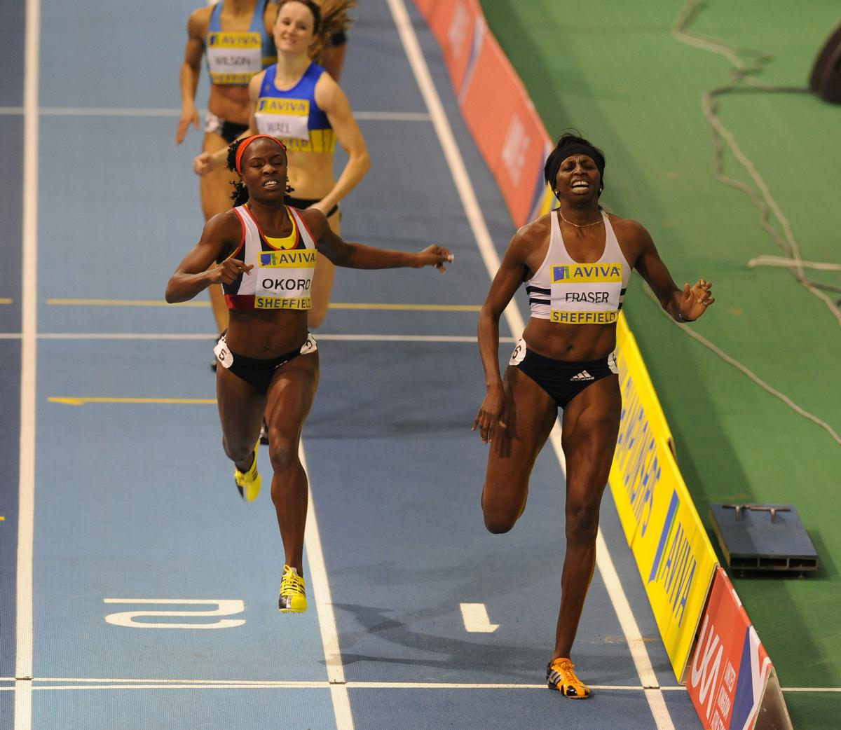 New WST trustee Donna Fraser, pictured right, winning the women's 400m final for GB from Marilyn Okoro in 2009 / Tony Marshall/EMPICS Sport
