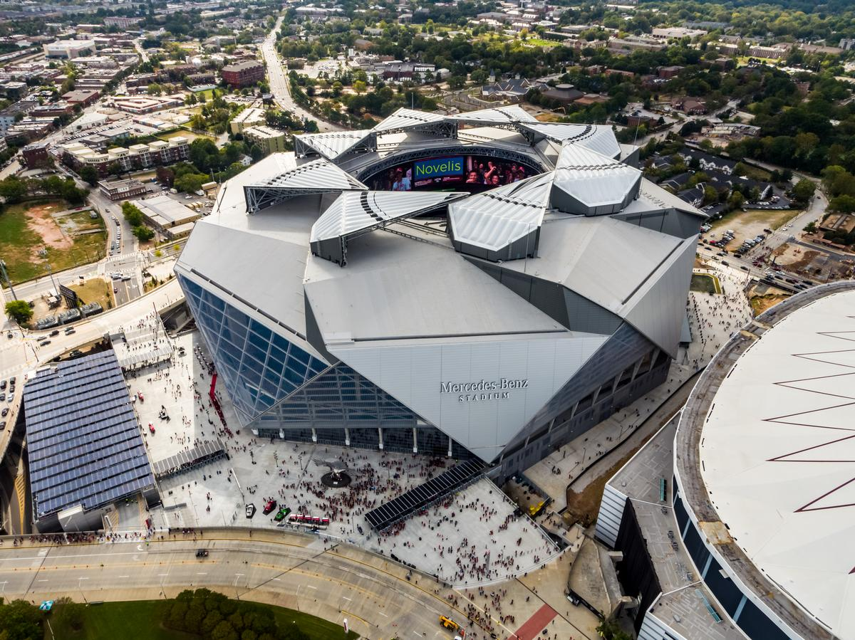 Video Mercedes Benz Stadium Rated Most Sustainable In The World Architecture And Design News Cladglobal Com