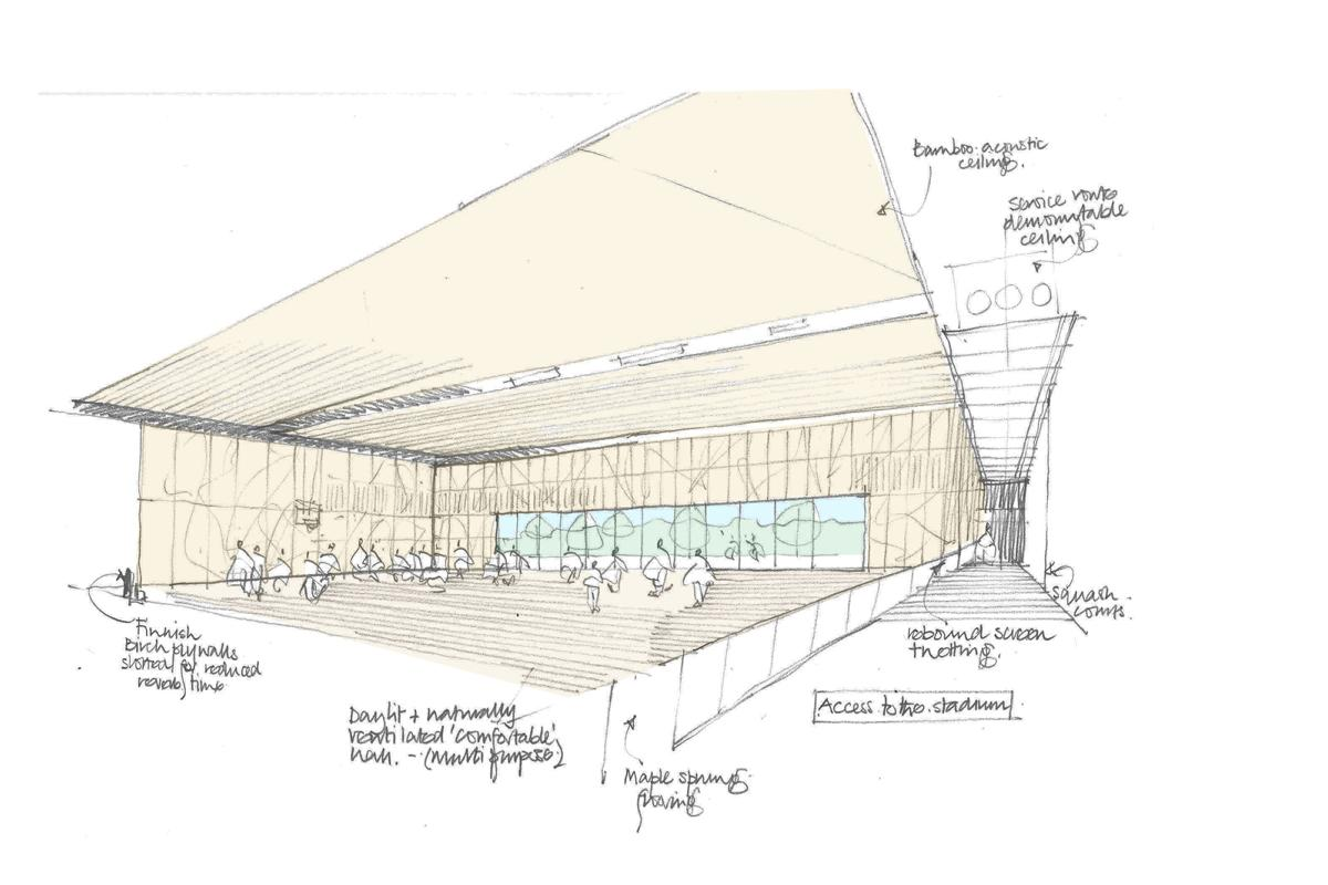 An artist's impression of the sports hall