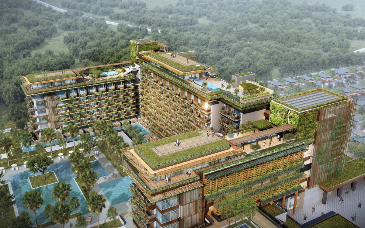 Designed by Hong Kong-based architects The Oval Partnership, the whole resort is being created with a strong emphasis on sustainable design