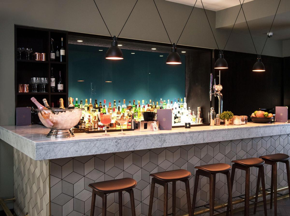 The bar at the new restaurant / Apex City of London