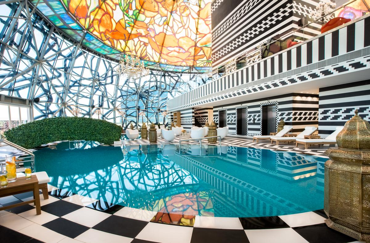 Wanders' vibrant philosophy can be seen in projects such as the Mondrian Doha, inspired by the traditional tales of the One Thousand and One Nights / Mondrian Doha/Marcel Wanders