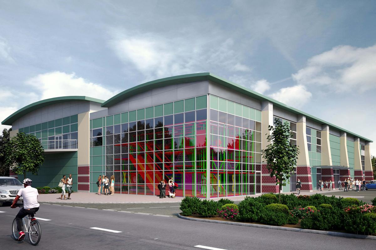 The design for Monmouth Leisure Centre, which is due to open next year / Monmouthshire County Council