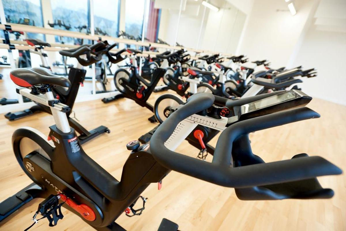 New indoor cycling equipment has been added to the upgraded gym at Ashville Sports Centre / Ashville College