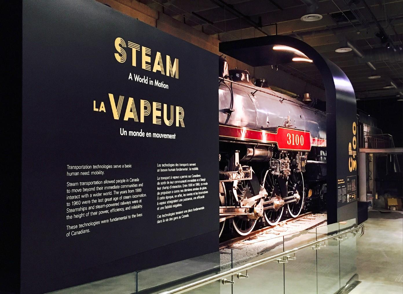 The galleries have been designed around a number of large-scale exhibits, including four locomotives / GSM Project