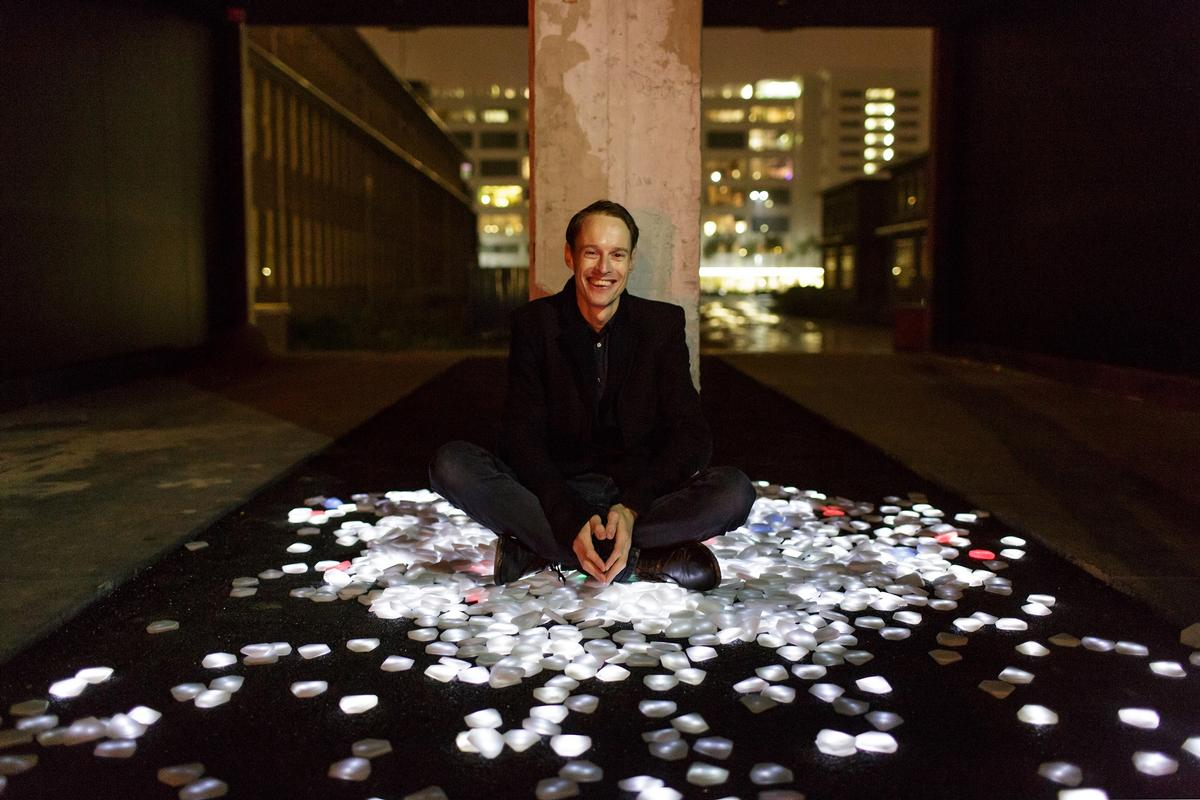 Dutch designer Daan Roosegaarde Roosegaarde's projects include the Smart Highway and the Smog Free Project