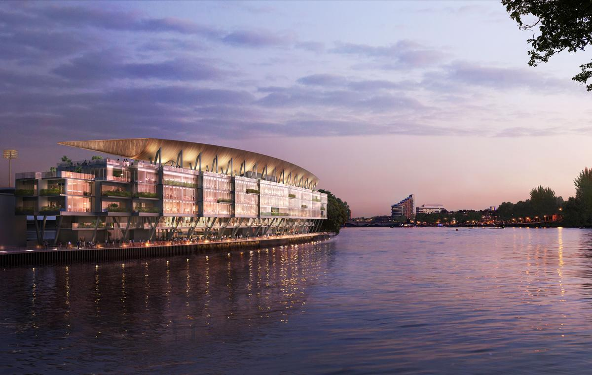 Sports architects Populous are behind the proposals, which club chair Shahid Khan has claimed will 'transcend the customary standards of football grandstands' / Populous