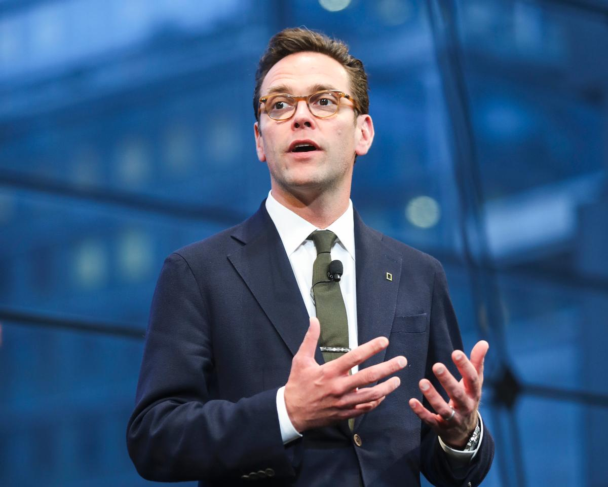 James Murdoch – current Fox CEO and son of media tycoon Rupert – could take the reins at Disney when Bob Iger departs in 2019 / PictureGroup/SIPA USA/PA Images