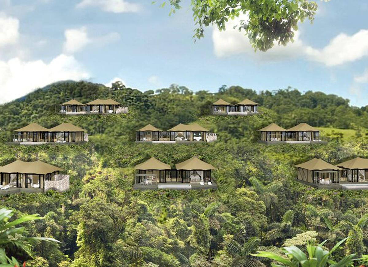 The tented properties are being built by Luxury Frontiers, which specialises in conceiving, designing and developing luxury tented suites and tree-top experiences / Nayara