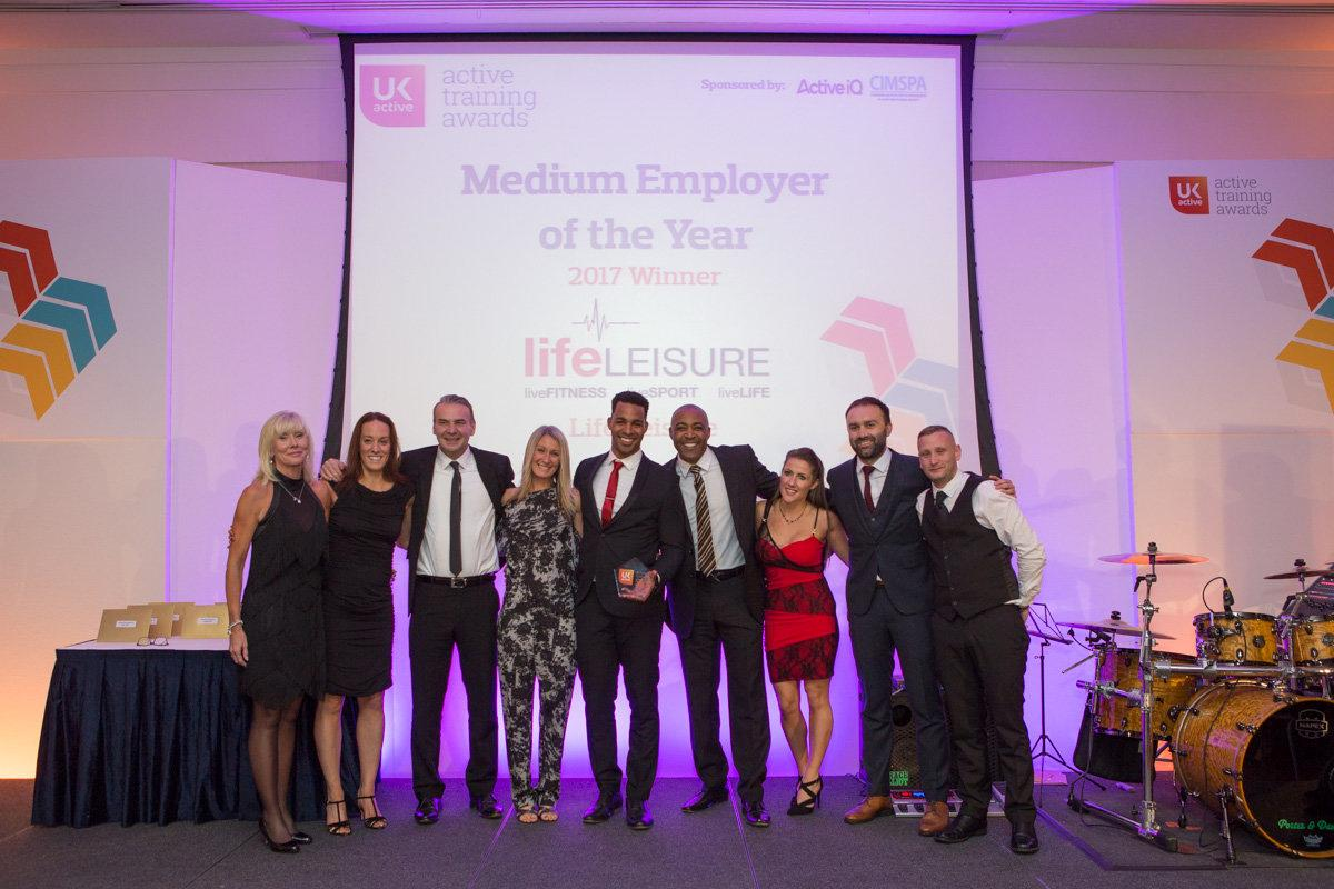 Life Leisure was one of 10 companies that picked up awards as the fitness sector celebrated workplace development / ukactive