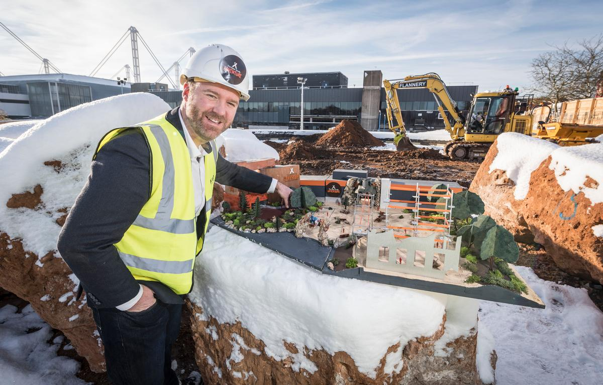 Attraction general manager James Thomas on-site during construction / Merlin Entertainments