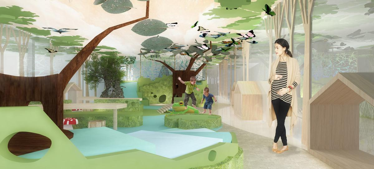 The centre includes a children's indoor playground and learning and development programmes / Melt Design Hub