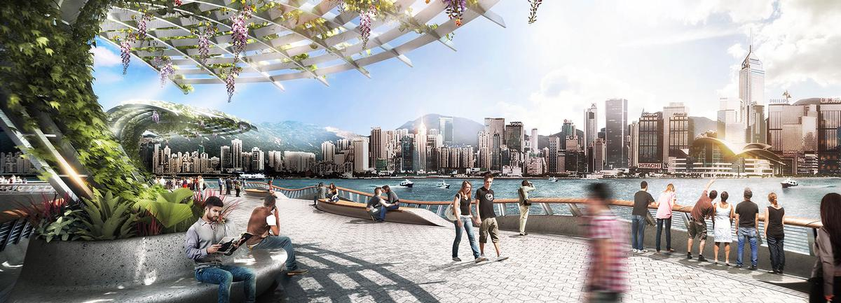 The wider Victoria Dockside development will cover three million square feet adjacent to the harbourfront promenade / James Corner Field Operations