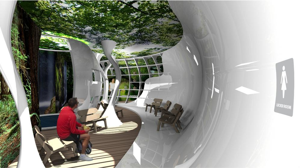 Well-designed waiting lounges can help people switch off from their everyday life