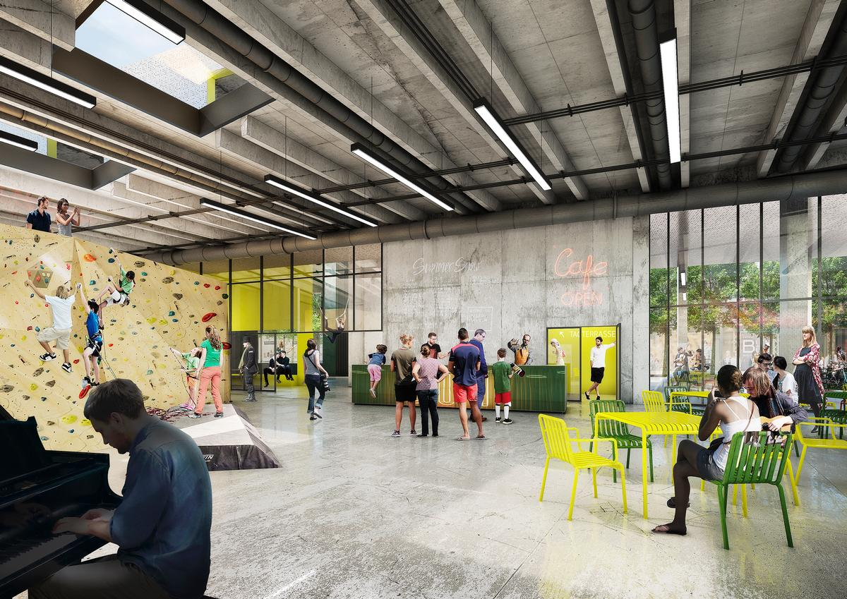 There will be space for climbing, socialising, community activities and even circus performances / Schmidt Hammer Lassen
