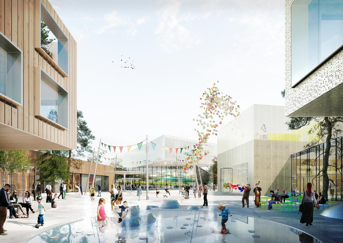 The multi-use community project is a key component of the revitalisation of the city's western Gellerup district, with an 'inspiring, welcoming and open destination' / Schmidt Hammer Lassen