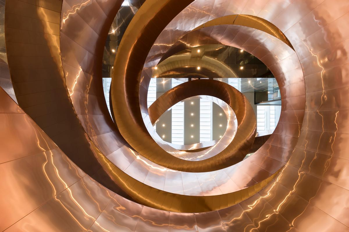 The Experimentarium's staircase, by CEBRA