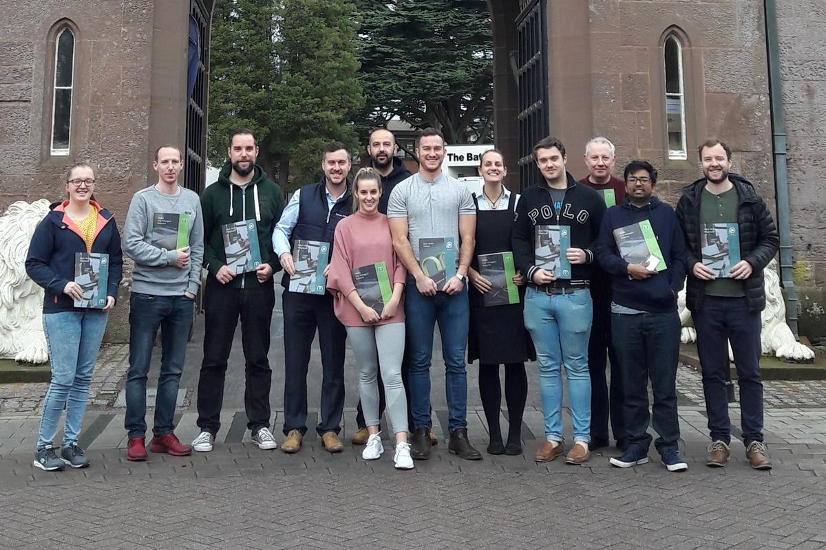 Mental health first aid trainees at Lilleshall National Sports and Conferencing Centre / Serco Leisure