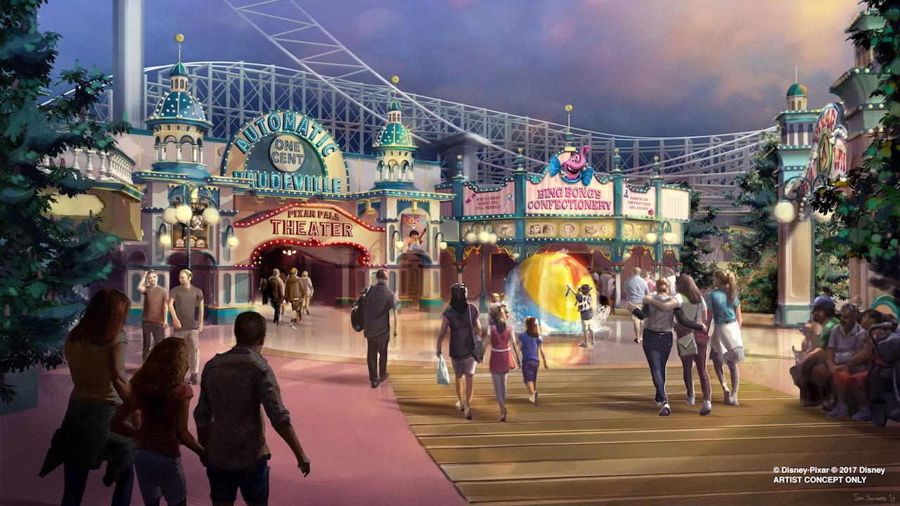 Pixar Pier is set for the third quarter and will four different themed neighbourhoods