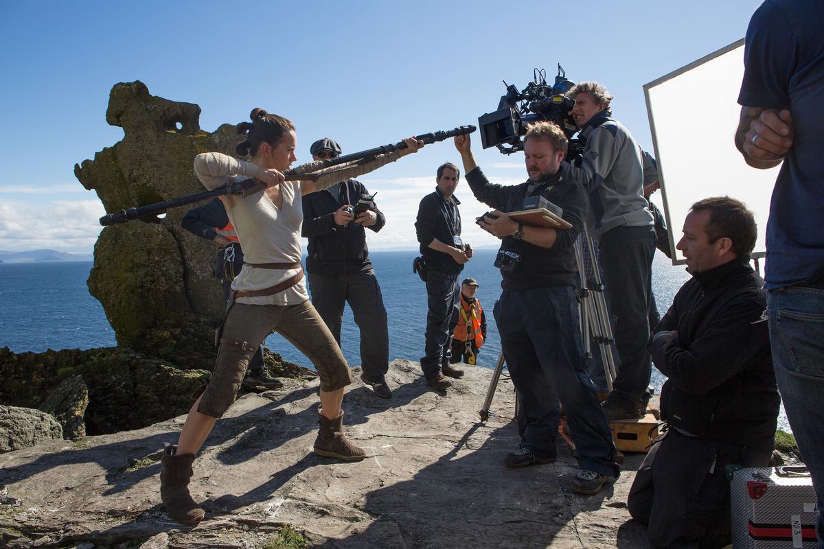 Much of <i>Star Wars: The Last Jedi</i> was filmed on Skellig Michael / Tourism Ireland