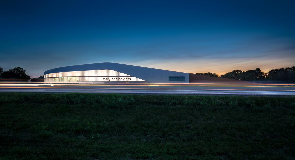The architects were tasked with mediating the harsh environment of the adjacent interstate highway  / CannonDesign