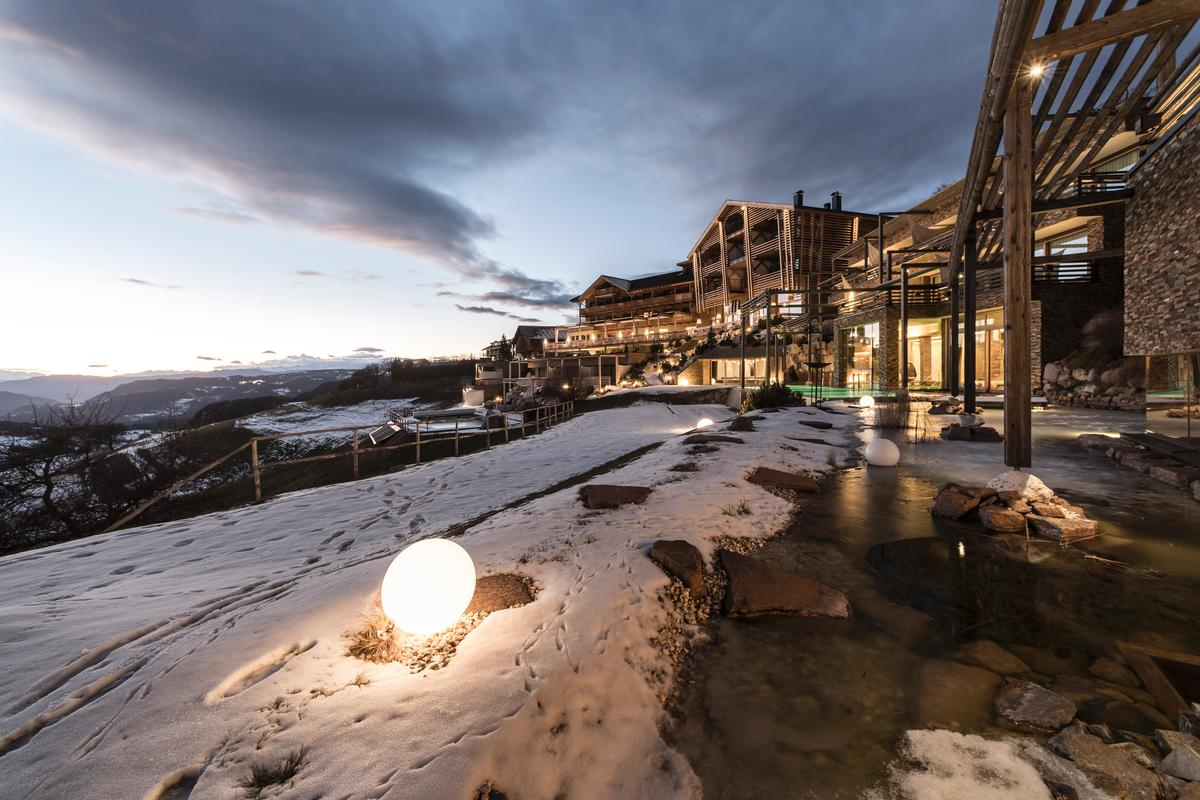 The family-run Valentinerhof hotel is situated 1,200m above sea-level in the commune of Castelrotto, South Tyrol / noa*