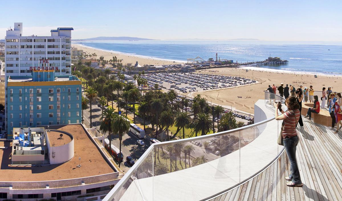 A 3,500sq ft (325sq m) public observation deck on top of the hotel building / Gehry Partners LLP